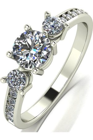Moissanite 9Ct 1Ct Equivalent Trilogy Ring