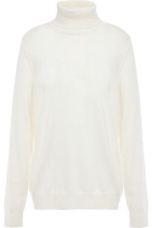 N.PEAL Women Turtlenecks - Woman Mélange Cashmere Turtleneck Sweater Ivory Size L