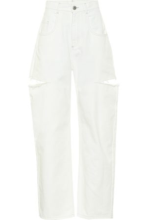 Maison Margiela High-rise cut-out straight jeans