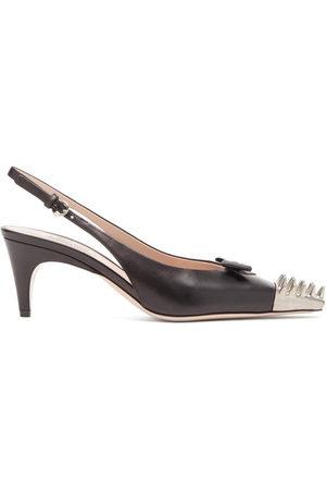 Miu Miu Spike-toe Leather Slingback Pumps - Womens