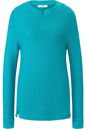 Peter Hahn Jumper in 100% cotton long sleeves turquoise size: 10