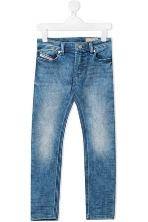 Diesel Kids Straight leg faded jeans