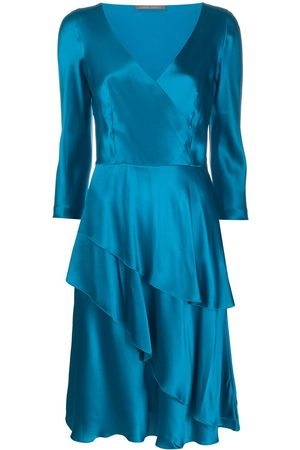 Alberta Ferretti V-neck flared dress