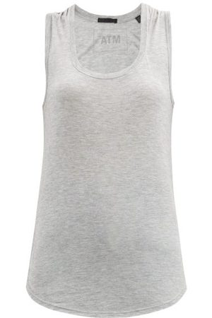 ATM Anthony Thomas Melillo Women Tank Tops - Scoop-neck Jersey Tank Top - Womens