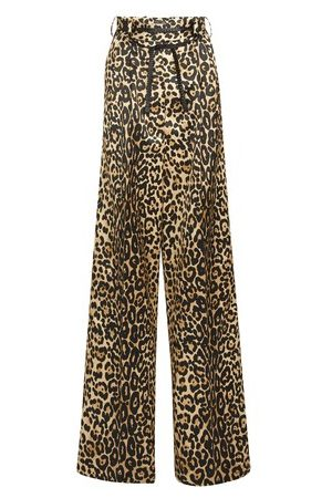 Tom Ford Women Trousers - Silk Cotton Leopard Pants