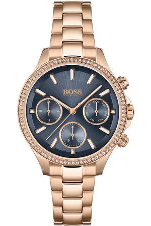 HUGO BOSS Hera Blue Multi Dial Rose Rose Tone Bracelet Watch