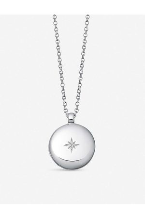 Astley Clarke Women Necklaces - White sapphire and sterling locket necklace