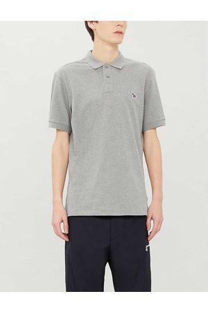 Paul Smith Zebra-appliquéd cotton-piqué polo shirt