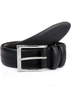 Dents Double Keeper Leather Belt, BLACK / XL