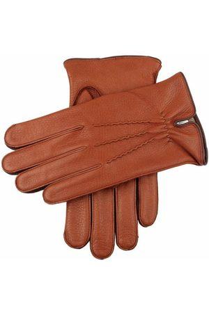 Dents Men's Cashmere Lined Deerskin Leather Gloves, HAVANA/BARK / XL