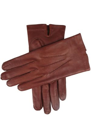 Dents Men's Silk Lined Leather Gloves, ENGLISH TAN / 10