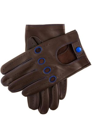 Dents Men's Contrast Leather Driving Gloves, BROWN / XL