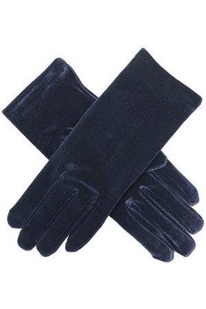 Dents Women's Short Velvet Evening Gloves, NAVY / ONE