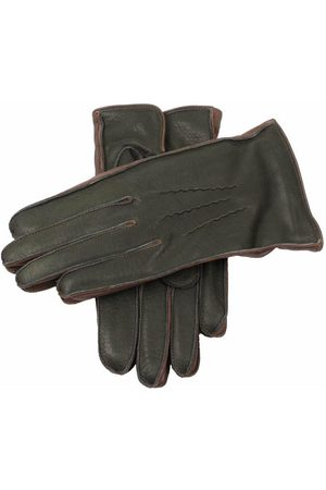 Dents Men's Lambswool Lined Deerskin Leather Gloves with Contrast Side Walls, / 9