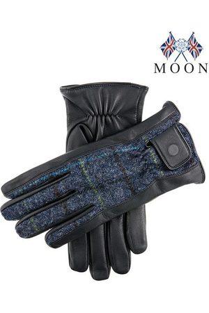 Dents Men's Abraham Moon Tweed & Leather Gloves, / L