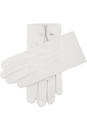 Dents Men's Leather Ceremonial Gloves, WHITE / 9
