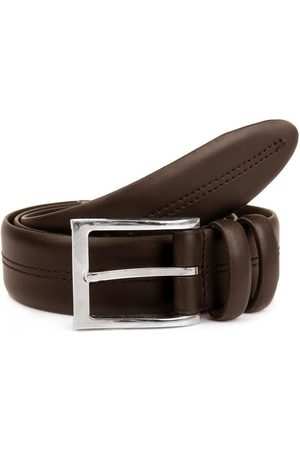 Dents Double Keeper Leather Belt, BROWN / L