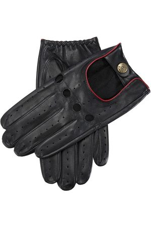 Dents Men's Leather Driving Gloves, BLACK/BERRY / M