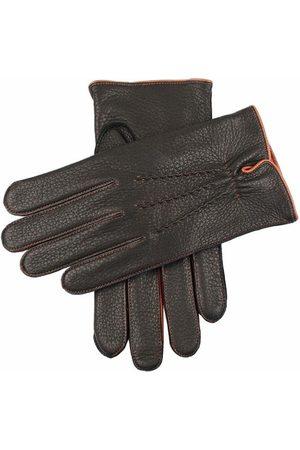Dents Men Gloves - Men's Cashmere Lined Deerskin Leather Gloves, / L