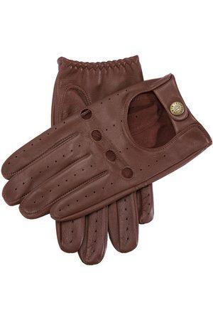 Dents Men Gloves - Men's Leather Driving Gloves, TAN / S
