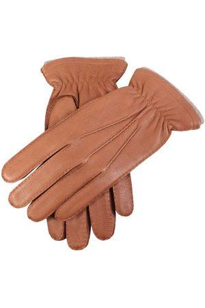 Dents Men Gloves - Men's Handsewn Cashmere Lined Deerskin Leather Gloves, HAVANA / XL