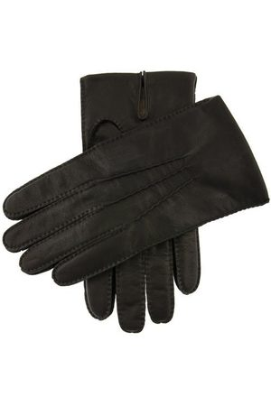Dents Men Gloves - Men's Cashmere Lined Handsewn Kangaroo Leather Gloves, BLACK / XL