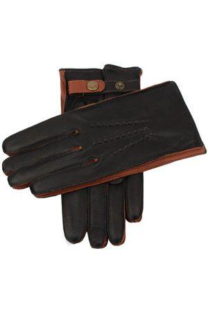Dents Men Gloves - Men's Cashmere Lined Deerskin Leather Gloves with Contrast Side Walls, / 10.5