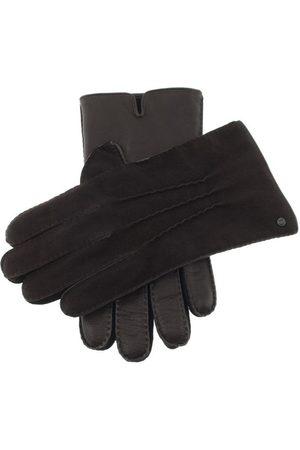 Dents Men Gloves - Men's Handsewn Cashmere Lined Leather & Nubuck Gloves, BROWN / L