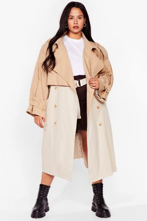 NASTY GAL Womens Back to Mac Oversized Plus Trench Coat - - 16