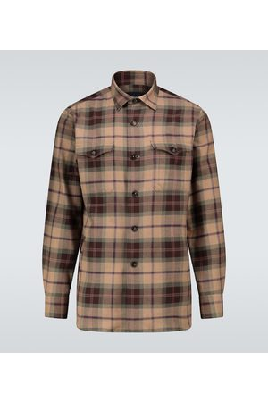 LARDINI Checked long-sleeved shirt