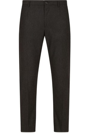 Dolce & Gabbana Pinstripe Stretch-Wool Trousers