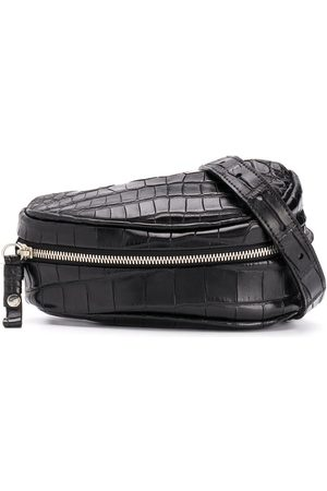 Cornelian Taurus By Daisuke Iwanaga Belts - Crocodile-effect saddle belt bag