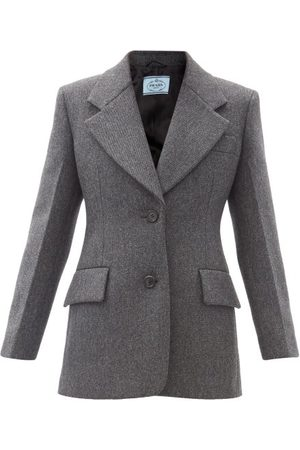 Prada Tailored Single-breasted Wool-twill Jacket - Womens