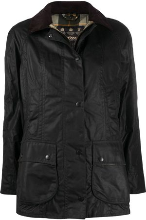 Barbour Women Outdoor Jackets - Single-breasted wax jacket