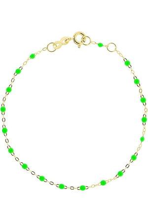 GIGI CLOZEAU 18kt yellow Classic Gigi neon green beaded bracelet
