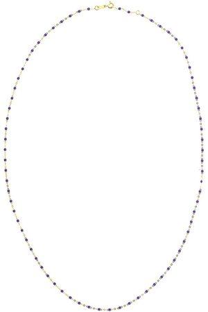 GIGI CLOZEAU 18kt yellow Classic Gigi mauve beaded necklace