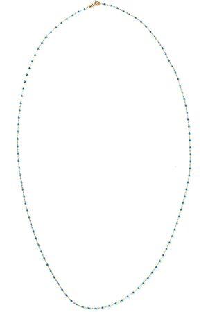 GIGI CLOZEAU 18kt yellow Classic Gigi blue beaded necklace