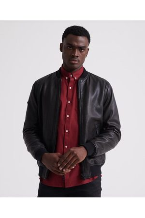Superdry Leather Flight Bomber Jacket