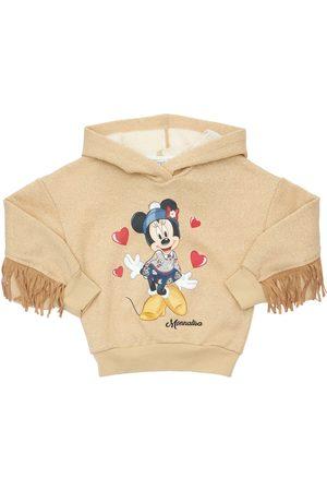 MONNALISA Minnie Print Lurex Sweatshirt Hoodie