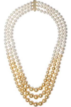 Yoko London 18kt yellow Ombré Golden South Sea and Akoya pearl necklace