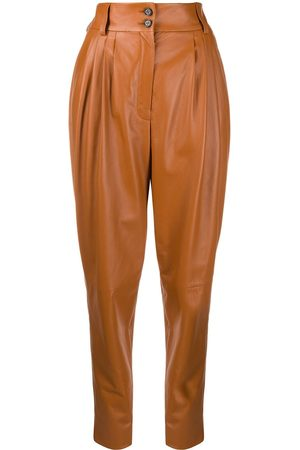 Dolce & Gabbana Women Trousers - High-waist leather trousers