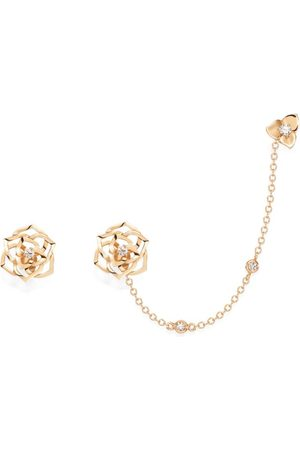 PIAGET Rose and Diamond Rose Chain Earrings