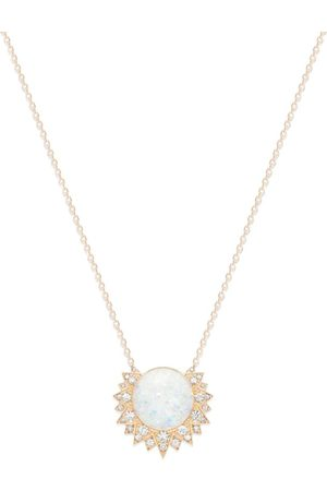 PIAGET Rose Gold, Diamond and Opal Sunlight Pendant Necklace