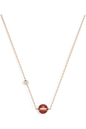 PIAGET Rose Gold, Diamond and Carnelian Possession Pendant Necklace