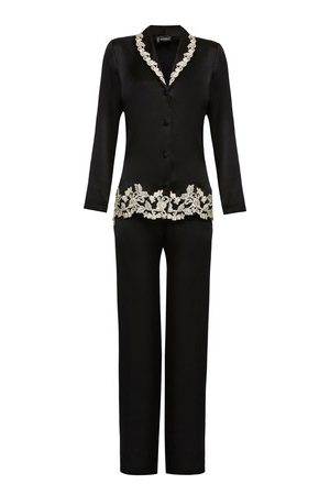 La Perla Women Pyjamas - Silk Pyjamas With Ivory Frastaglio