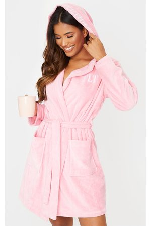 PRETTYLITTLETHING Hood Detail Towelled Dressing Gown