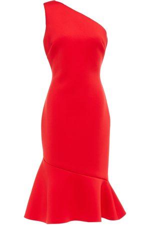 Badgley Mischka Woman One-shoulder Flared Scuba Dress Size 10