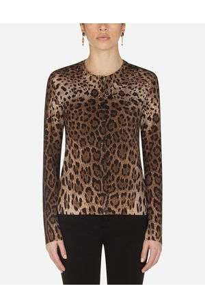 Dolce & Gabbana Collection - WOOLEN CARDIGAN WITH LEOPARD PRINT