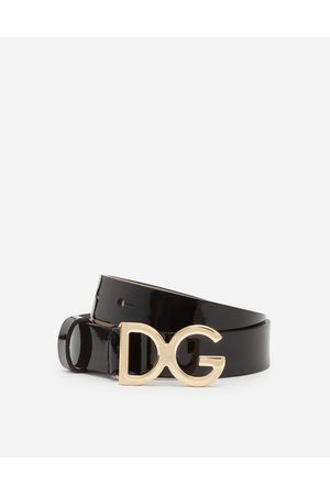 Dolce & Gabbana Accessories - PATENT LEATHER BELT WITH DG BUCKLE
