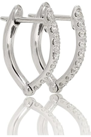 Melissa Kaye Cristina Small 18kt white gold earrings with diamonds